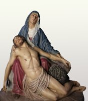 custom made, hand-painted pieta