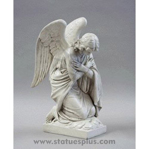 Kneeling Angel statue arms crossed