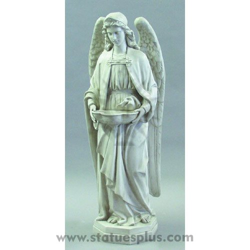 Holy water font Angel statue