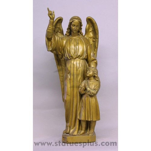 Guardian Angel with child statue