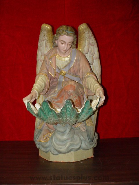Angel Kneeling with Holy Water Font