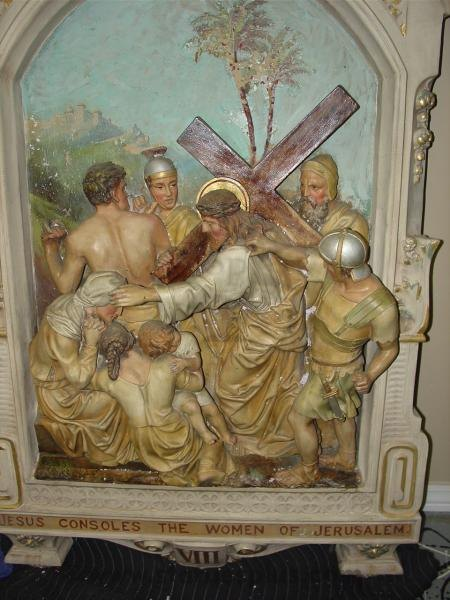 Antique, Gothic Style Stations of the Cross