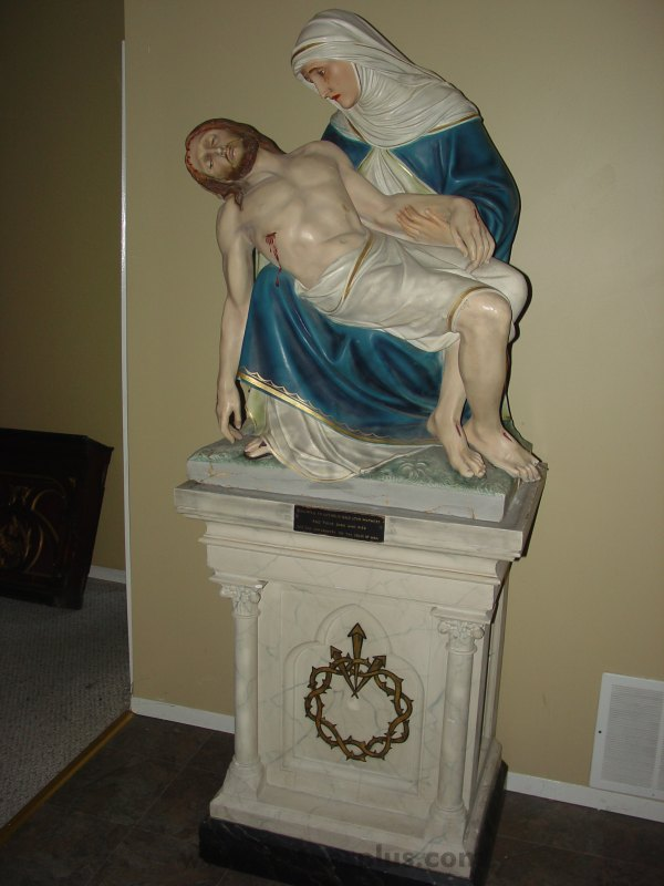 Beautiful Pieta with Base
