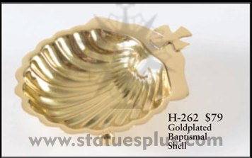 Goldplated Baptismal Shell