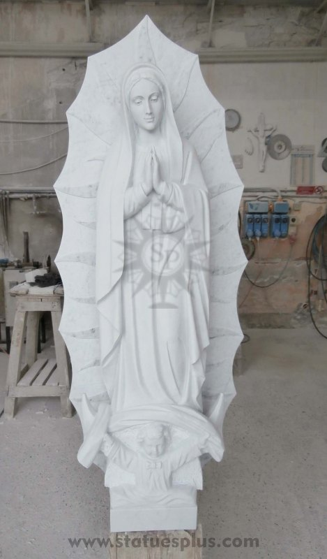 New Marble Statue of our Lady of Guadalupe