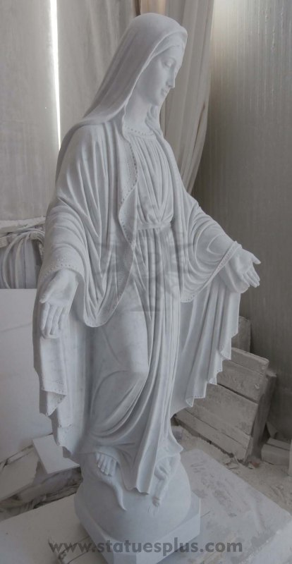 New Marble Statue of Our Lady of Grace