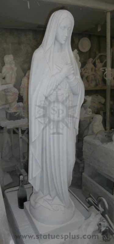 New Marble Mary Statue