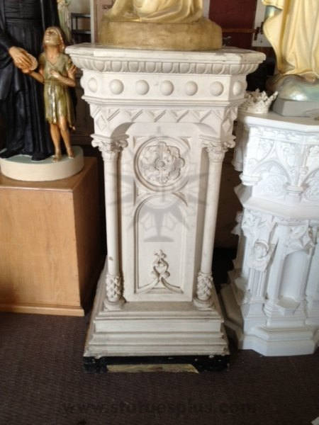 Large Ornate Pedestal