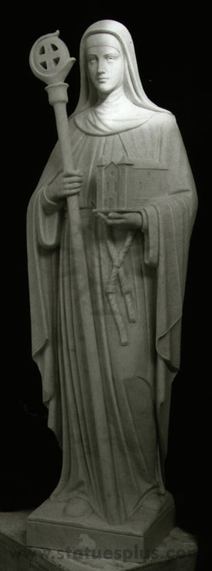 New Marble Statue of St. Barbara