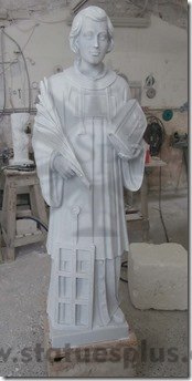 New Marble Statue of St. Stephen