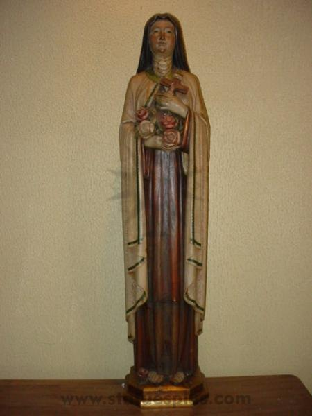 St. Therese, ornate wood